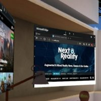 Edge browser window floating in VR home