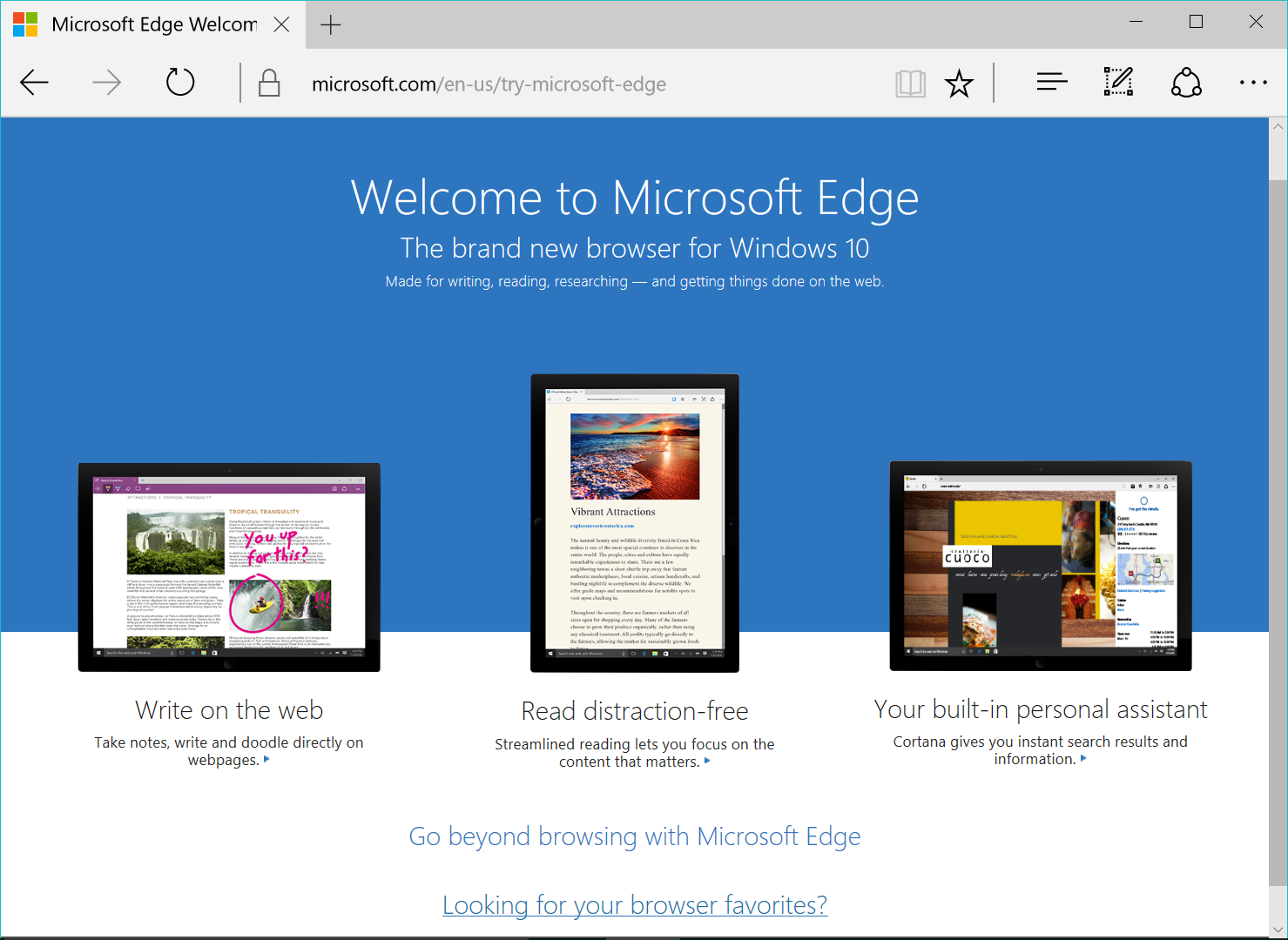 Microsoft Edge Welcome Page | George Karalis