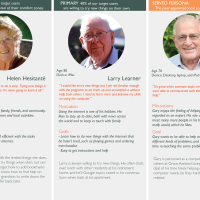 Profiles of 3 personas: Helen Hesistante, Larry Learner and Gary Geek